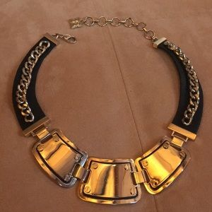 Jewelry - 💋 GOLD & BLACK FAUX LEATHER ADJUSTABLE NECKLACE